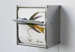El artista Juan Fontanive construye folioscopios orientados a la ornitología que se repiten constantemente con la ayuda de mecanismos construidos a mano.